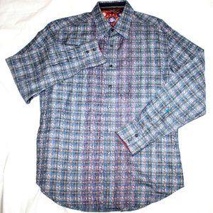 Robert Graham Mens Long Sleeve Button Front Shirt